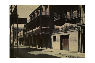A View of a Street in the French Quarter by Edwin L. Wisherd