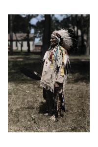 An Informal Portrait of Red Tomahawk by Edwin L. Wisherd