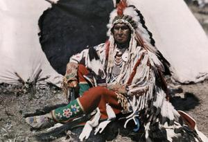 Chief on the Crow Indian Reservation by Edwin L. Wisherd