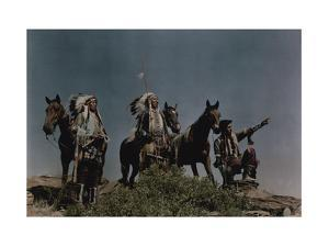 Three American Indians on the Crow Reservation by Edwin L. Wisherd
