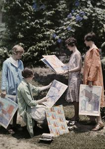 Young Women from Newcomb College, Gather with their Artwork by Edwin L. Wisherd
