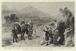Her Majesty the Queen, the Princess Royal, and the Prince of Wales at Loch Laggan, Scotland by Edwin Landseer