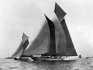 Auxiliary Schooner Invader by Edwin Levick