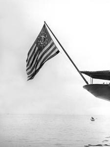 Flag on the Stern of the Corsair by Edwin Levick