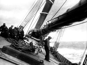 Men on Deck of Unidentified Fishing Schooner, 1929 by Edwin Levick