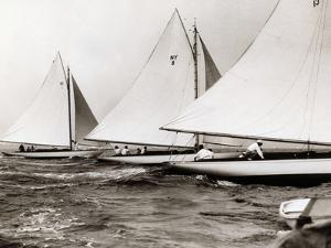 New York Yacht Club 30 Footer Race by Edwin Levick
