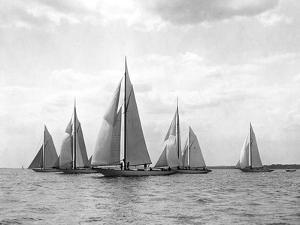 New York Yacht Club Yachts, New York 40'S by Edwin Levick