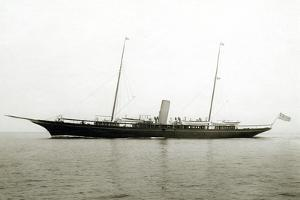 Profile of the Yacht Corsair by Edwin Levick