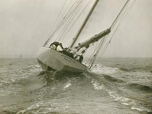 Resolute, a Racing Yacht Owned by a Syndicate Founded by Cornelius Vanderbilt by Edwin Levick