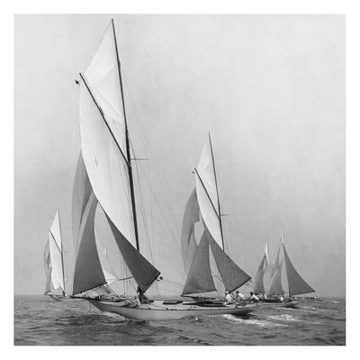 Sailboats Sailing Downwind, 1920
