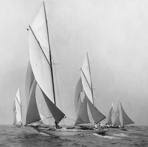 Sailboats Sailing Downwind, 1920 by Edwin Levick