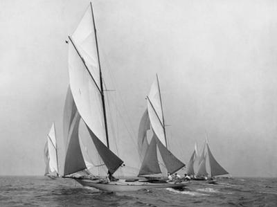 Sailboats Sailing Downwind, CA. 1900-1920