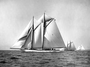 Schooner Yacht Enchantress by Edwin Levick
