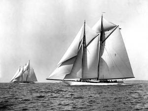 Schooners Enchantress and Queen Mab by Edwin Levick