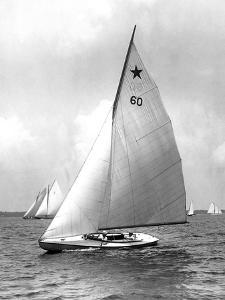 Star Class Boat Themis in Race of 1922 by Edwin Levick