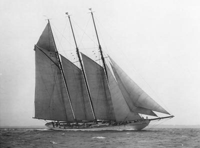 The Schooner Karina at Sail, 1919