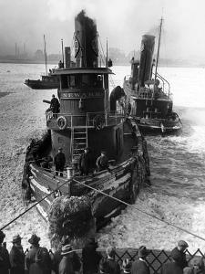 Tugboat Newark by Edwin Levick