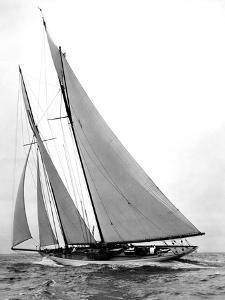 Yacht Virginia by Edwin Levick