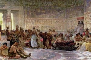 An Egyptian Feast, 1877 by Edwin Longsden Long