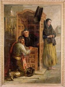 Confession, 1862 by Edwin Longsden Long