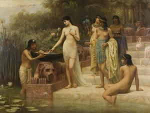 Pharaoh's Daughter - the Finding of Moses, 1886 by Edwin Longsden Long
