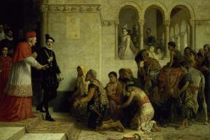The Supplicants. the Expulsion of the Gypsies from Spain, 1872 by Edwin Longsden Long