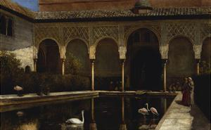 A Court in the Alhambra in the Time of the Moors by Edwin Lord Weeks