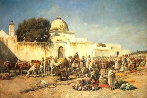 Market Scene at Mogador, 1881 by Edwin Lord Weeks