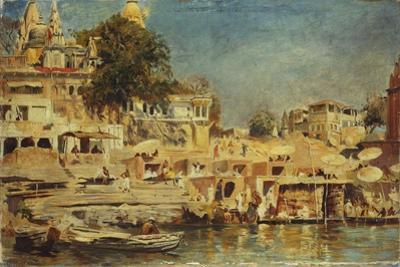 View of the Ghats at Benares, 1873