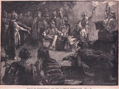 Edwin of Northumbria and the Christian Missionaries-Charles Ricketts-Giclee Print