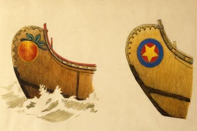 Bow of a Three-And-One-Half Fathom Passenger Canoe, Three-And-One-Half Fathom Canoe