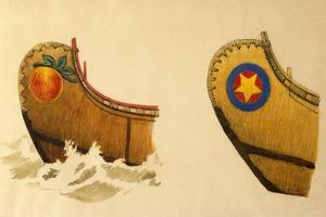 Bow of a Three-And-One-Half Fathom Passenger Canoe, Three-And-One-Half Fathom Canoe by Edwin Tappan Adney