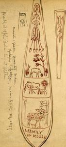 Decorated Paddles of Penobscot Indians by Edwin Tappan Adney