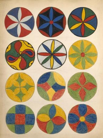 Decorations - Circular Designs by Edwin Tappan Adney