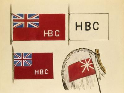Hudson Bay Company Canoe Flags