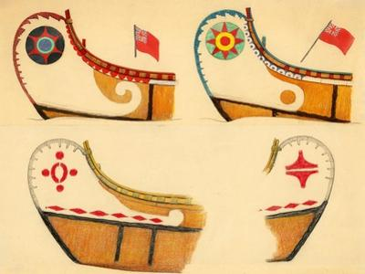 Signs and Symbols on the Canoes of the Maliseet Tribe by Edwin Tappan Adney