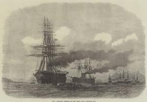 HMS Agincourt Aground on the Pearl Rock, Gibraltar Bay by Edwin Weedon