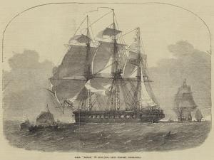HMS Nankin, 50 Guns, Honourable Keith Stewart, Commander by Edwin Weedon
