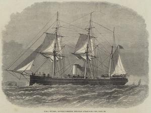 HMS Wyvern, Double-Turreted Iron-Clad Steam-Ram by Edwin Weedon