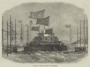 Launch of HMS Cyclops at Blackwall by Edwin Weedon