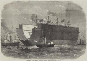 Launch of the Bermuda Floating Dock at North Woolwich by Edwin Weedon