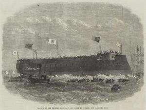 Launch of the Prussian Iron-Clad Kron Prinz at Poplar by Edwin Weedon