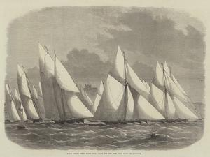 Royal Cinque Ports Yacht Club, Start for the Race from Dover to Boulogne by Edwin Weedon