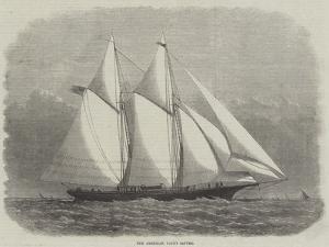 The American Yacht Sappho by Edwin Weedon