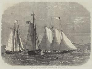 The American Yachts Saluting Her Majesty Off Osborne House by Edwin Weedon
