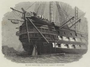 The Atlantic Telegraph Cable, Stern of HMS Agamemnon by Edwin Weedon