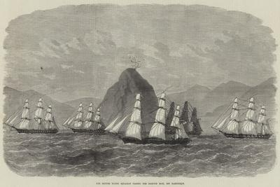 The British Flying Squadron Passing the Diamond Rock, Off Martinique
