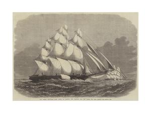 The Great Ship-Race from China to London, the Taeping and the Ariel Off the Lizard by Edwin Weedon