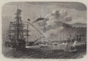 The Prince of Wales Landing at Quebec by Edwin Weedon