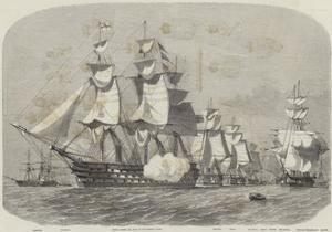 The Queen's Visit to Cherbourg by Edwin Weedon